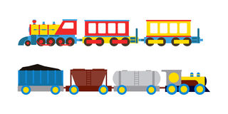 Toy train vector illustration. Royalty Free Stock Photography