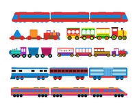 Toy train vector illustration. Royalty Free Stock Images
