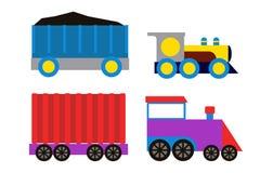Toy train vector illustration. Royalty Free Stock Photos