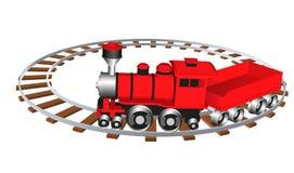 Toy train. Vector illustration eps 10 isolated on white background. Cartoon style. Stock Image