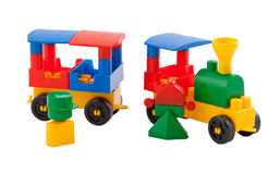 Toy train on white background Stock Photo