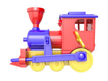 Toy train. On white background. 3D image Stock Photography