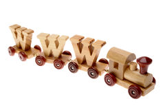 Toy train and WWW Stock Images