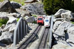 Toy trains Stock Photos