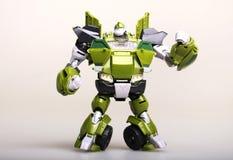 Toy transformer robot Stock Photo