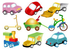 Toy transport. There are many icon toy transport Stock Photo