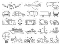 Toy Transport Set que se coloreará Libro de colorear para educar a niños libre illustration