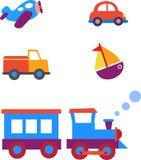 Toy transportation set Stock Images