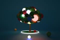 Toy Tree Luminant-Mitte Lizenzfreie Stockfotografie