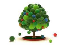 Toy Tree-Mitte Stockfoto