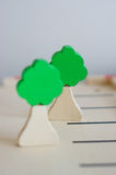 Toy trees Royalty Free Stock Images