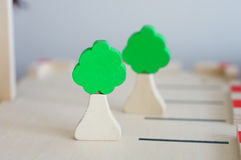 Toy trees Royalty Free Stock Photography