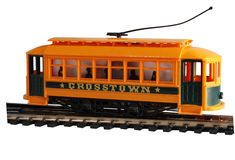 Toy Trolley. Plastic toy HO gauge trolley Royalty Free Stock Images