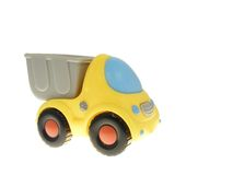 Toy truck. The toy truck with a body isolated on white background Royalty Free Stock Photo