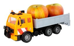 Toy Truck Carrying Apples Foto de Stock Royalty Free