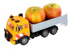 Toy Truck Carrying Apples Imagem de Stock