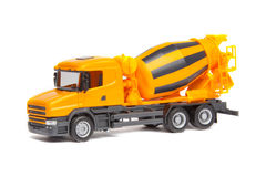 Toy truck concrete mixer Royalty Free Stock Photos