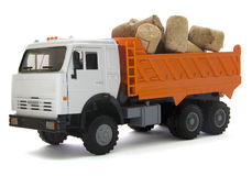 Toy truck with cork stopper for a wine bottle Stock Photo