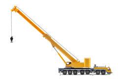 Toy truck crane isolated over white backgroung. Yellow toy truck crane isolated over white backgroung Royalty Free Stock Image