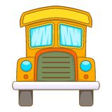 Toy truck icon, cartoon style. Toy truck icon in cartoon style isolated on white background vector illustration Stock Images