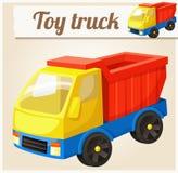 Toy Truck Ilustración del vector de la historieta Foto de archivo libre de regalías