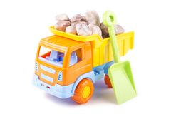 Toy truck isolated on a white Royalty Free Stock Image