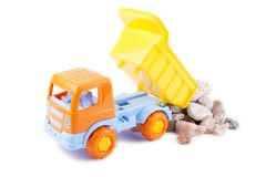 Toy truck isolated on a white Royalty Free Stock Photos