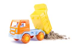 Toy truck isolated on a white Stock Photo