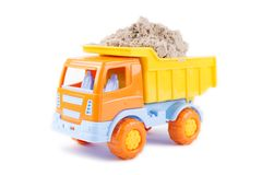 Toy truck isolated on a white Stock Photos