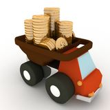 Toy truck with money Stock Photography