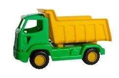 Toy Truck op wit wordt geïsoleerd dat royalty-vrije stock afbeelding