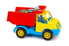 Toy truck with puzzle Stock Photos
