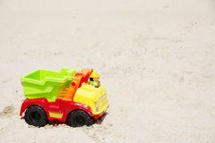 Toy Truck in the Sand Royalty Free Stock Image