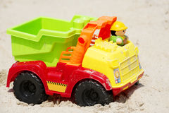 Toy Truck in the Sand Royalty Free Stock Images