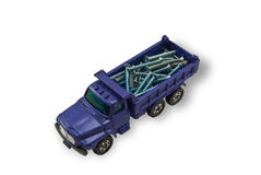 The toy truck with screws Stock Photography