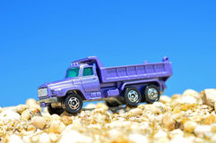 Toy truck. On a sunny day Stock Images