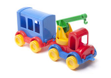 Toy truck with trailer Royalty Free Stock Images