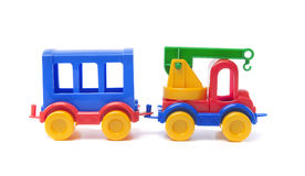 Toy truck with trailer Stock Photos