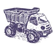 Toy truck vector drawing Royalty Free Stock Photos