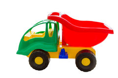 Toy truck on wood background Stock Image