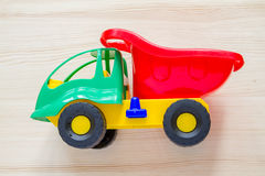 Toy truck with wood blocks Royalty Free Stock Photography