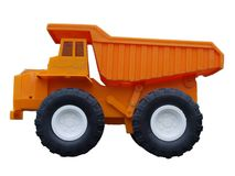Toy truck3. Plastic hard toy truck, view close up Royalty Free Stock Images
