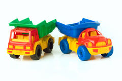 Toy trucks Stock Image