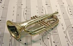 Toy trumpet Royalty Free Stock Photos