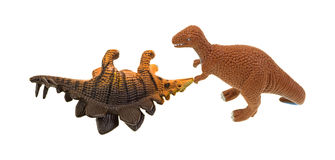 Plastic toy dinosaurs Stock Photography