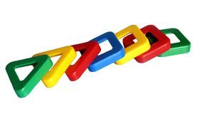 Toy of various geometric shapes for the child Stock Image