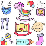 Toy various style baby doodles Royalty Free Stock Photography