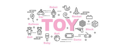 Toy vector banner Royalty Free Stock Photos