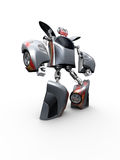 Toy Vehicle Robot. 3d render of a toy robot on the white background Royalty Free Stock Images