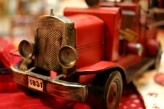 Toy Vintage Car 7. Toy truck on the desk stock image